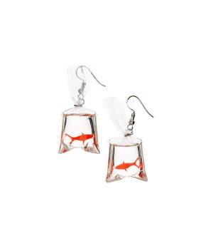 Frankie & Stein | Orange Goldfish Drop Earrings