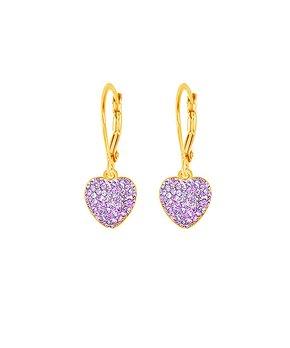 a9f31621a only 3 left · Chanteur Designs   Cubic Zirconia & Goldtone Heart Drop  Earrings