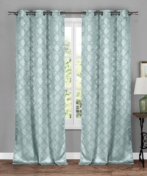 Duck River Textile | Drizzle Gray Jacquard Clarissa Curtain Panel - Set of Two