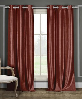 Lush Décor | Gray Embroidered-Accent Curtain Panel - Set of Two