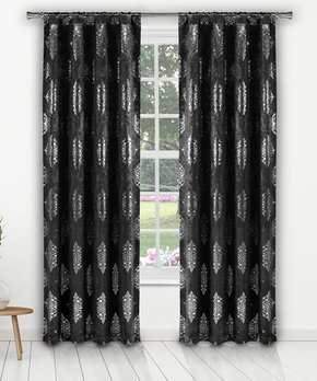 Duck River Textile | Chocolate Charlotte Blackout Curtain Panel - Set of Two