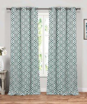 Duck River Textile | Gray Geometric Print Zaria Panel - Set of Two