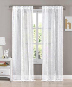 Duck River Textile | Burgundy & White Kylie Three-Piece Curtain Panel Set