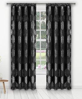 Lush Décor | Silver Bells Velvet Dream Curtain Panel - Set of Two