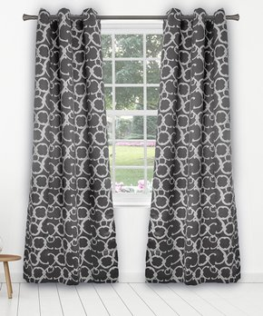 Duck River Textile | Sage Checker Faux Linen Cleo Three-Piece Curtain Panel Set