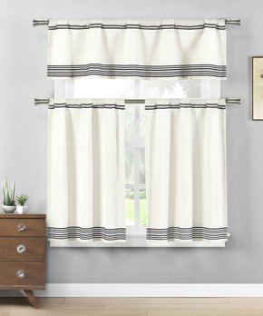 Duck River Textile | Taupe Chevron Curtain Panel - Set of Two