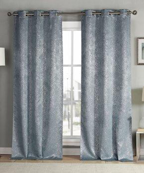 Lush Décor | Rust Prima Velvet Curtain Panel - Set of Two