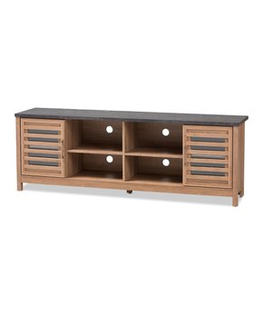 Baxton Studio | Light Brown & Gray Pacific 70.87'' TV Stand