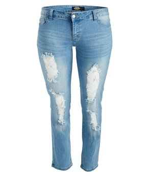 BBA (Big But Adorable) | Light Blue Distressed Skinny Jeans - Plus
