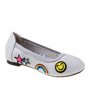 Josmo | Silver Emoji Ballet Flat - Girls!