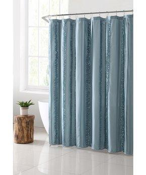 Park B. Smith | Gray Seersucker Shower Curtain