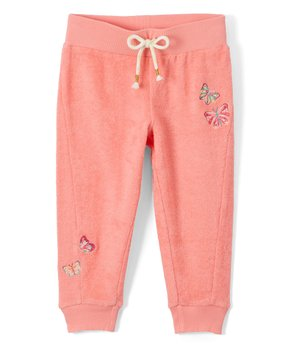 0c85e725f Colette Lilly   Peach Shell Butterfly Sweatpants - Girls