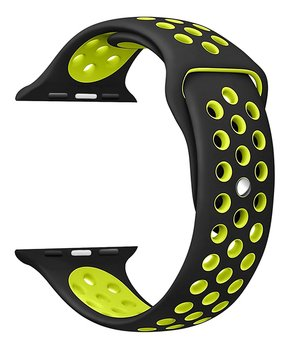 Digital Gadgets | Black & Yellow Silicone Sport Band for Apple Watch
