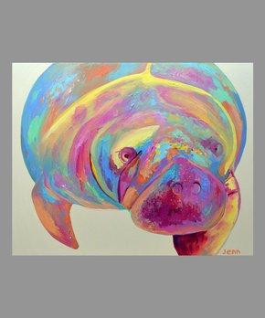 Jenn Seeley Art | Manatee Hugh Art Print