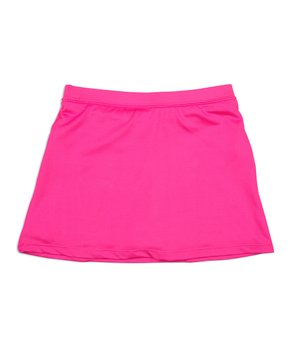 Little Miss Tennis | Pink Ruffle-Accent Circle Skirt – Girls
