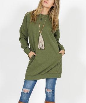 186b26330b4 Ash Gray Side-Pocket Oversize Fleece Tunic · all gone