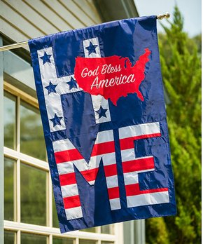 Evergreen | Patriotic 'Welcome' Outdoor Flag