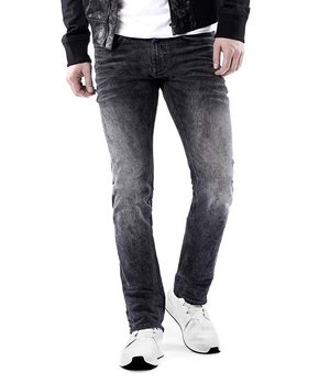 2ac56d56f8d all gone. Parasuco | Black Lightly Distressed Straight-Leg Jeans ...
