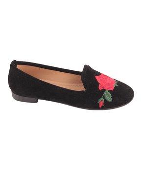 Belladia | Black Rose Loafer - Girls