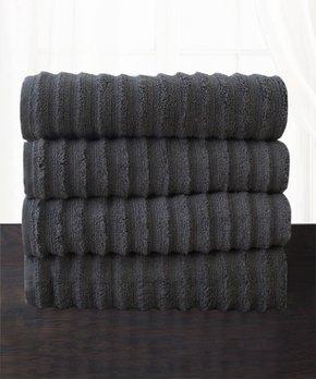 Affinity Home | Gray Spa Four-Piece Cotton Bath Towel Set