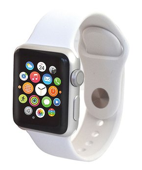 Apple | Refurbished Silver & White Sport Band 38-mm Series 2 Watch