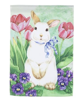Evergreen | Standing Bunny Outdoor Flag