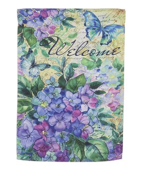 Evergreen | Blue & Purple Hydrangea 'Welcome' Outdoor Flag
