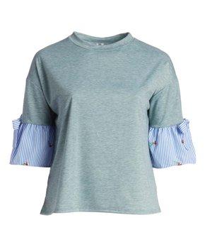 Celeste | Navy Bird Three-Quarter Sleeve Tunic - Plus