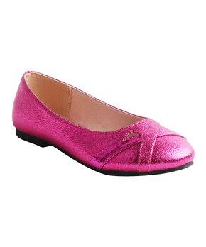 Belladia | Burgundy Ankle-Strap Stanly Flat - Girls