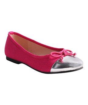 LULU BELLE | Blue & Silver Cap Toe Ballet Flat - Girls