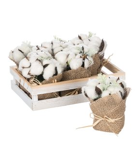 Sullivans Décor | Faux Cotton Boll Bundle & Crate Set