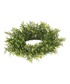 Sullivans Décor | Green 9.5'' Leaf Candle Ring