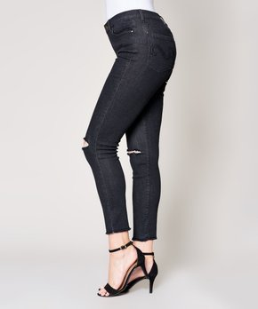 8058bcfbb55 Bloomrocks | Light Blue Two-Tone Distressed Skinny Jeans – Women ...