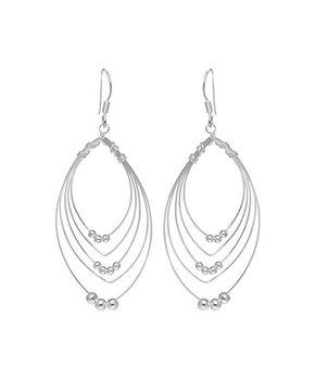 OroStar Silver | Sterling Silver Beaded Drop Earrings