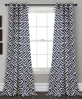 Duck River Textile | Taupe Jacquard Ewva Three-Piece Curtain Panel Set