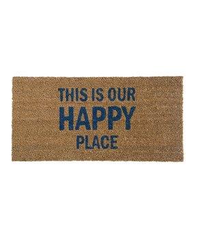 'Our Happy Place' Coir Door Mat