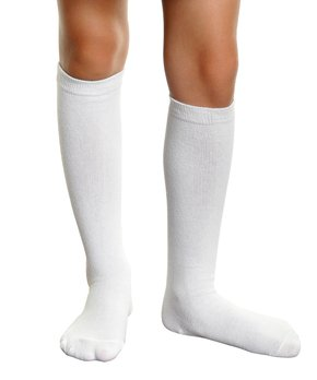 f68d26f66f2e5 Angelina | White Knee-High Angelina Six-Pair Socks Set - Kids
