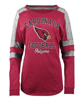 Arizona Cardinals Space-Dye Long-Sleeve Tee - Women