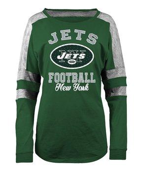 New York Jets Space-Dye Long-Sleeve Tee - Women