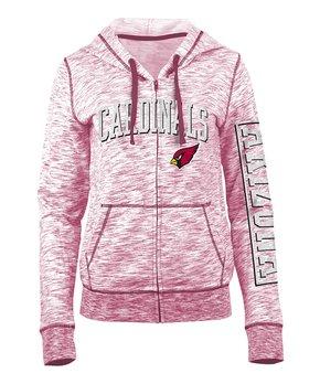 Arizona Cardinals Space-Dye French Terry Zip-Up Hoodie - Women