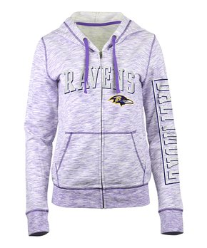 Oakland Raiders Stripe-Sleeve Notch Neck Tee - Women
