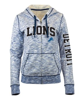 Detroit Lions Space-Dye French Terry Zip-Up Hoodie - Women