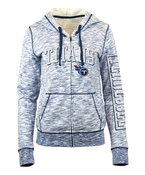 Tennessee Titans Space-Dye French Terry Zip-Up Hoodie - Women