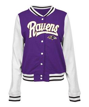 Baltimore Ravens French Terry Varsity Jacket - Women