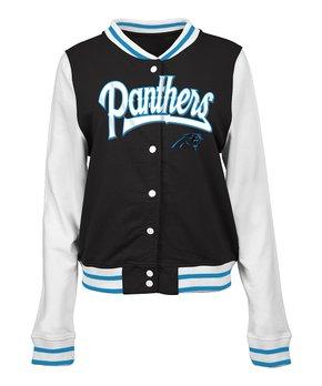 Carolina Panthers French Terry Varsity Jacket - Women