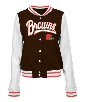 Cleveland Browns French Terry Varsity Jacket - Women