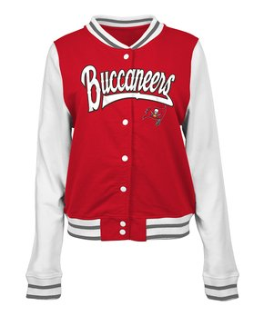 Tampa Bay Buccaneers French Terry Varsity Jacket - Women