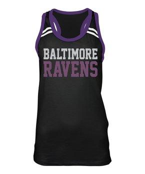 Atlanta Falcons Stripe-Sleeve Notch Neck Tee - Women