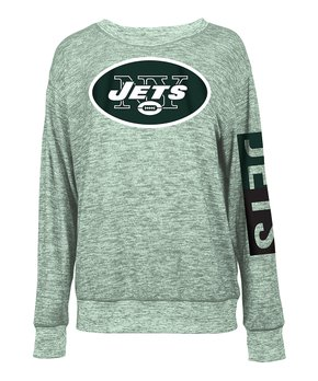New York Jets Space-Dye Pullover - Women