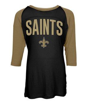 New Orleans Saints Raglan Tee - Kids